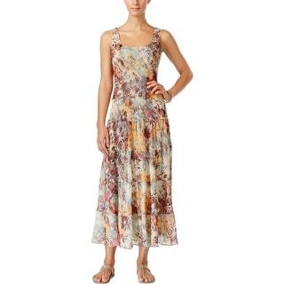 Nine West Womens Maxi Dress Sleeveless Printed