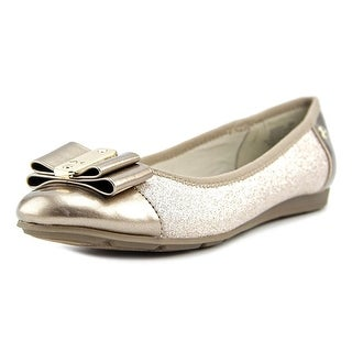 Anne Klein Sport Aricia Women  Round Toe Canvas Gold Flats