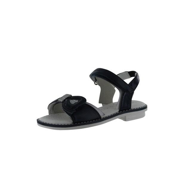 Geox Girls' Giglio B Open Toe Sandal - Navy