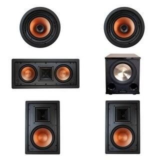 Klipsch 5.1 In-Wall System w\ 2 R-3800-W II, 1 Klipsch R-5502-W II, 2 Klipsch CDT-3800-C II, 1 PL-200 II Sub