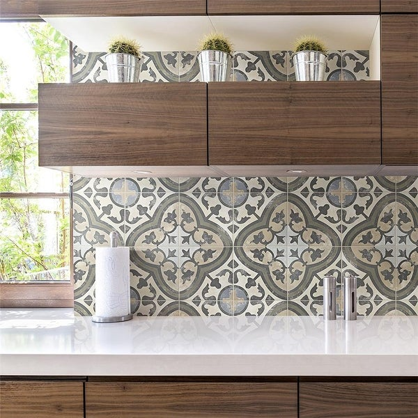 SomerTile 9.75x9.75-inch Concept Carthusian Porcelain Floor and Wall Tile (16 tiles/11.11 sqft.). Opens flyout.