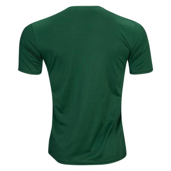 adidas Boys L 14 16 Soccer Graphic Tee T-Shirt Grey Green
