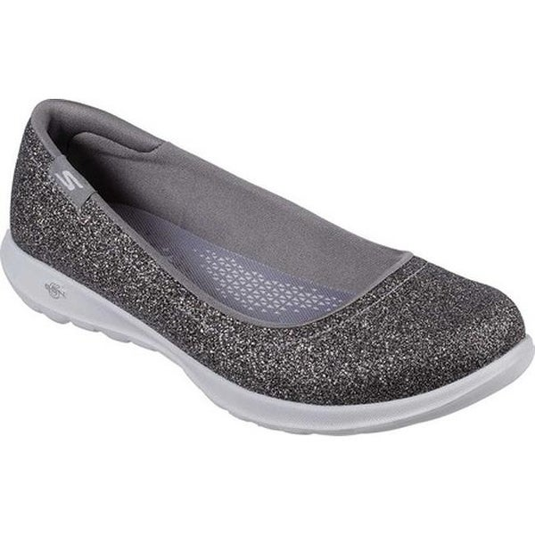 3e79f86df3a562 ... Women s Shoes     Women s Flats. Skechers Women  x27 s GOwalk Lite  Gleam Skimmer Silver