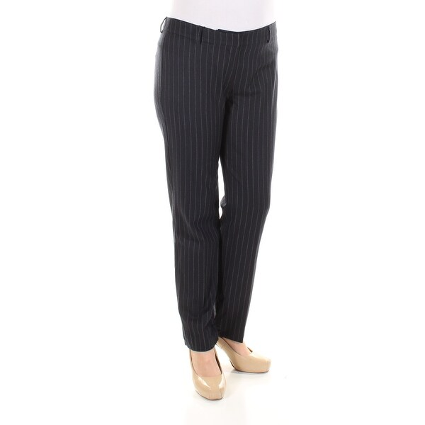 f41054e7a38f Shop Womens Black Pinstripe Casual Pants Size 12 - On Sale - Free Shipping  Today - Overstock.com - 21306424