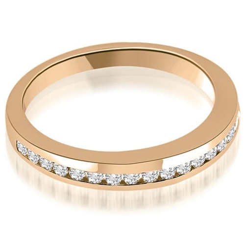 0.28 cttw. 14K Rose Gold Classic Channel Round Cut Diamond Wedding Band