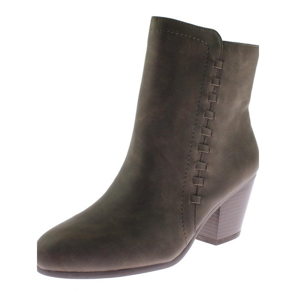 Aerosoles Womens Vitality Booties Faux Leather Almond Toe