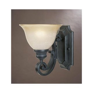 Designers Fountain 96101 Single Light Up Lighting Wall Sconce from the Barcelona Collection - natural iron