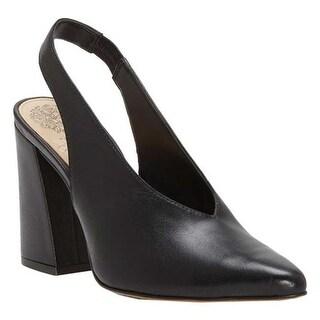Vince Camuto Women's Tashinta Slingback Pump Black Brulee Leather