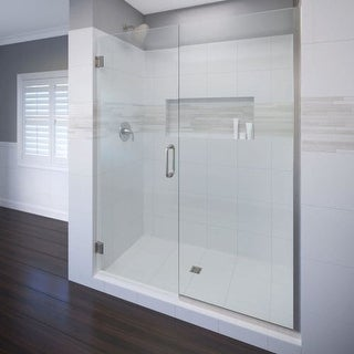 "Basco CELA-935-46-76XP Celesta 76"" High x 46"" Wide Pivot Frameless Shower Door with AquaGlideXP Clear Glass"