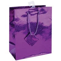 """Holographic Glossy Gift Bags Assortment 7""""X9""""-2 Each Of 6 Colors"""