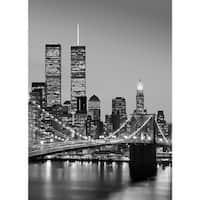 "Brewster DM388 100"" x 72"" - Manhattan Sky at Night - Unpasted Vinyl Coated Paper Mural - 4 Panels"