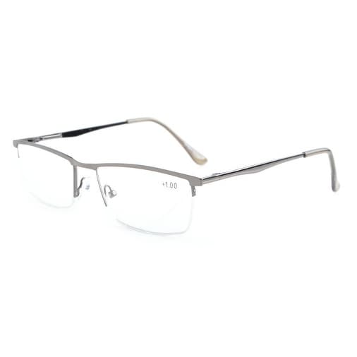 cb1e31d8902 Shop Eyekepper Quality Spring Hinges Half-Rim Reading Glasses Gunmetal  +1.75 - Free Shipping On Orders Over  45 - Overstock.com - 17781386