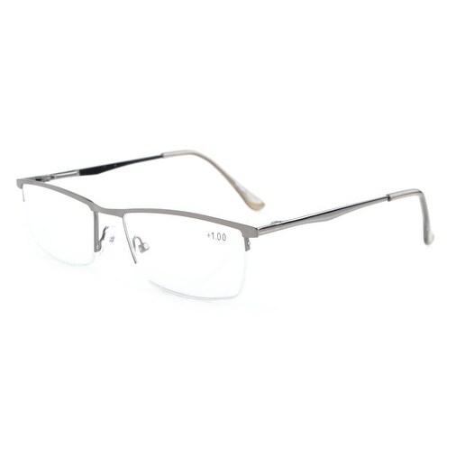 ba7f9dc20cb Shop Eyekepper Quality Spring Hinges Half-Rim Reading Glasses Gunmetal  +2.25 - Free Shipping On Orders Over  45 - Overstock - 17780942