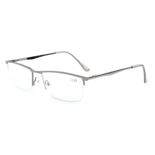 e90c9d0451c Shop Eyekepper Quality Spring Hinges Half-Rim Reading Glasses Gunmetal +2.75  - Free Shipping On Orders Over  45 - Overstock.com - 17781554