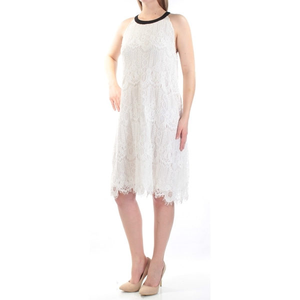 504cbef21f Shop Womens White Black Color Block Sleeveless Knee Length Shift Formal  Dress Size: 10 - Free Shipping On Orders Over $45 - Overstock - 21351274
