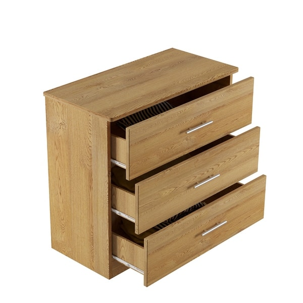 Milford Solid Wood Oak 3 Drawer Chest Overstock 31323789