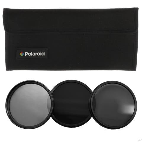 Polaroid Optics 67mm Neutral Density (ND) Pro-Grade 3-Piece Filter set