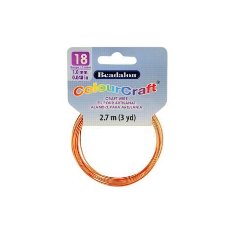 Beadalon ColourCraft Wire 18ga Copper 3yd