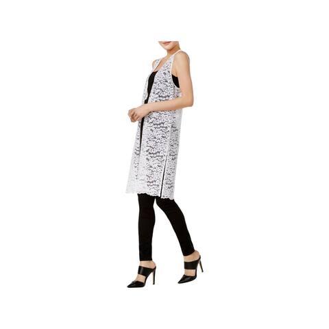 Kensie Womens Femme Vest Lace Open Front - XS
