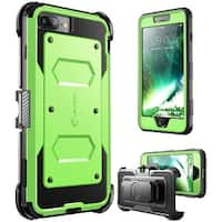 i-Blason-iPhone 7 Plus Case, [Armorbox]built in Bumper Case-Green