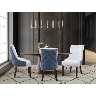 Link to Chic Home Cooper PU Leather Dining Chair with Solid Birch Legs - N/A Similar Items in Dining Room & Bar Furniture