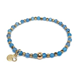 "Light Blue Quartz Friendship 7"" Bracelet"