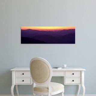 Easy Art Prints Panoramic Image 'Clingman's Dome, Great Smoky Mountains National Park, North Carolina' Canvas Art