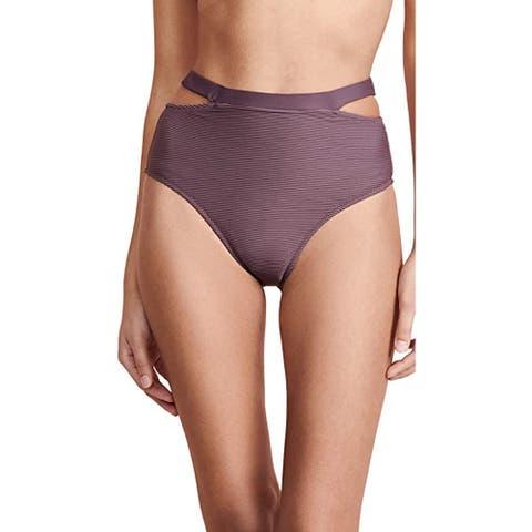 Vitamin A Women's Coco Bikini Bottoms, Brown, X-Small