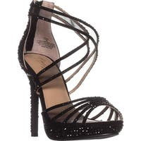TS35 Ceara Platform Dress Sandals, Black