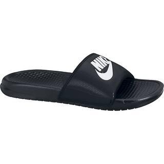 NIKE Men's Benassi Just Do It Slide Sandal, Black/White, 14 D(M) US|https://ak1.ostkcdn.com/images/products/is/images/direct/23c8a000b078aa36c0413514d2aeb7347cd94535/NIKE-Men%27s-Benassi-Just-Do-It-Slide-Sandal%2C-Black-White%2C-14-D%28M%29-US.jpg?impolicy=medium