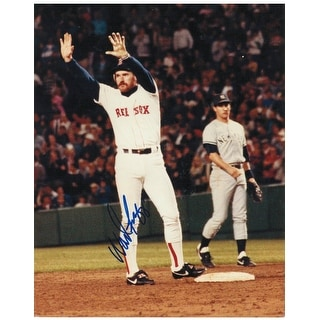 Wade Boggs Boston Red Sox Autographed 8x10 Photo On Base