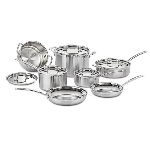 Cuisinart MCP-12N MultiClad Pro Stainless Steel 12-Piece Cookware Set - Stainless Steel