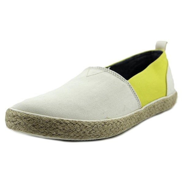 Generic Surplus Slip-on Men  Round Toe Canvas Ivory Loafer