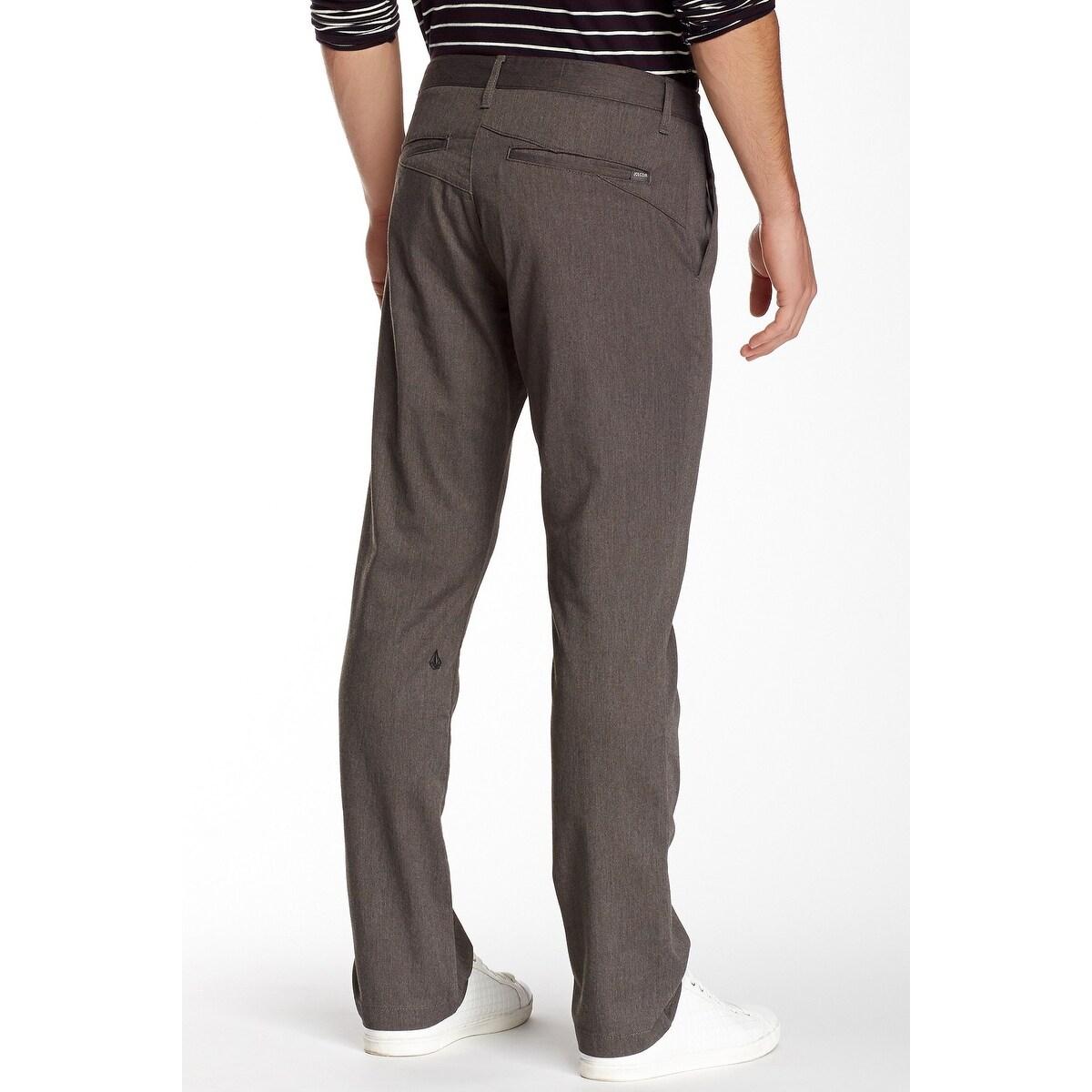 NEW Volcom Mens VMONTY Stretch Shorts Modern Fit Dark Gray Chinos Size 30