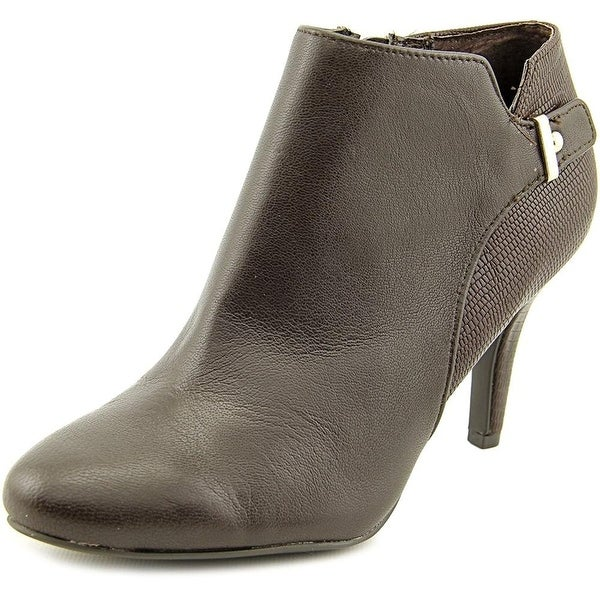 Alfani Womens Gabry Leather Almond Toe Ankle Fashion Boots