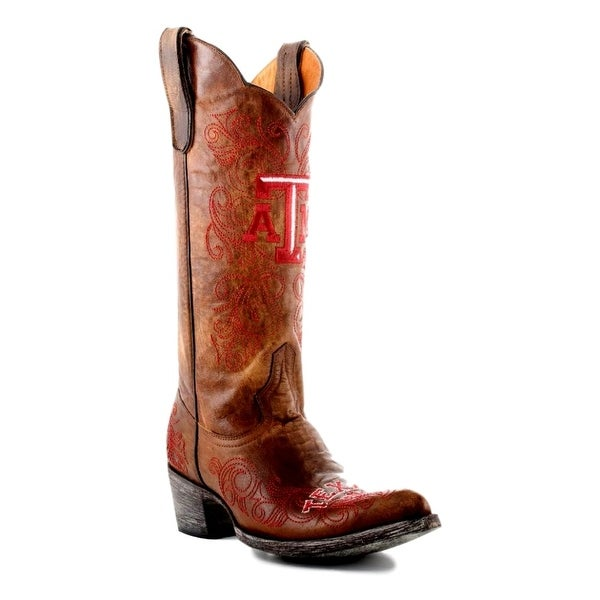 Gameday Boots Womens College Team Texas A&M Reveille Brass