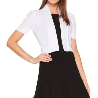 Calvin Klein Womens Shrug Sweater Open Front Short Sleeves