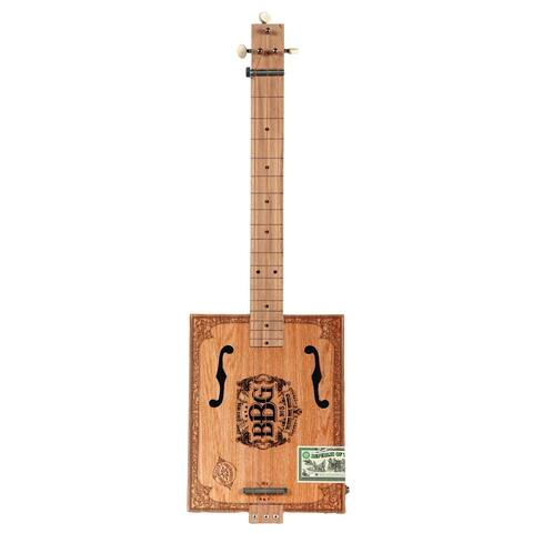 Hinkler Electric Blues Box Slide Guitar - Build Your Own Cigar Box Guitar Kit - Materials, Instruction Book, & DVD - 26 in.