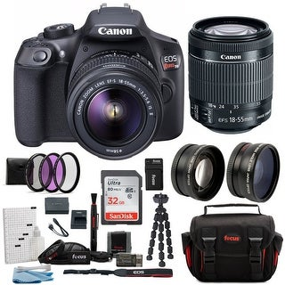 Canon T6 EOS Rebel DSLR Camera with EF-S 18-55mm IS II Lens Bundle