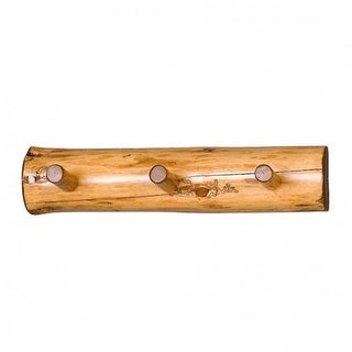 Viking Log Furniture NWS 0 24 in. Log Wall Coat Rack - Clear