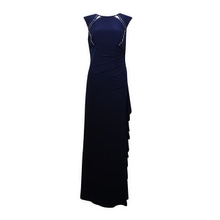 Betsy & Adam Women's Stud Embellished Cutout Ruched Jersey Gown - 8