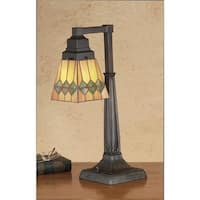 Meyda Tiffany 48214 Stained Glass / Tiffany Accent Desk Lamp from the Martini Mission Collection