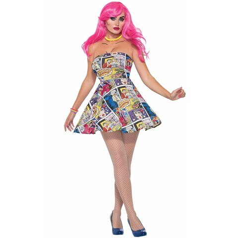 Forum Novelties Comic Book Dress Adult Costume - Multi - Standard
