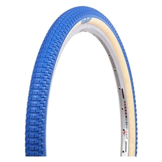 SE Bikes Tires Racing Cub Wire Bead Bicycle Tire - Blue/Tan - 26X2.0 - SE-TI-CUB2620-BL