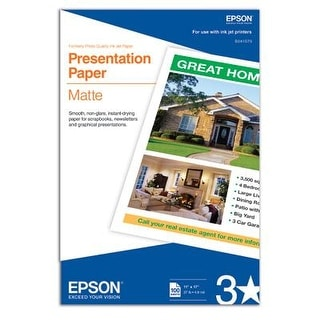 Epson : Inkjet Paper Photo Quality B Size - 11X17 100 Sheets11x17 100 Sheets -:- Sold As 2 Packs Of - 100 - / - Total Of