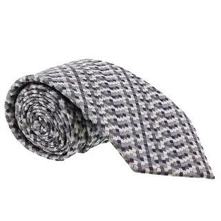 Missoni Grid Chain Link Grey Woven 100% Silk Tie