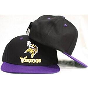 Minnesota Vikings Snapback Black / Purple Two Tone Adjustable Cap