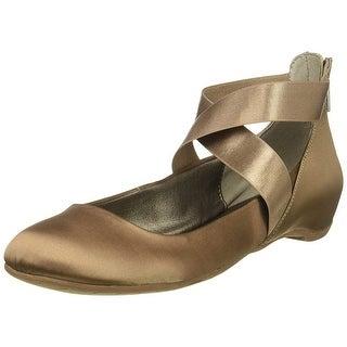 Kenneth Cole REACTION Women's Pro-Time Elastic Ankle Strap, Back Zip-Satin Ba...