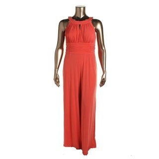 Sangria Womens Matte Jersey Ruched Jumpsuit - 16