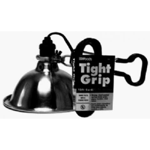 Woods 2839 Tight Grip Light Duty Clamp Lamp Worklight, 12' Cord